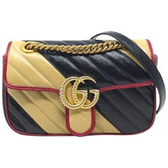 2019 Gucci Multicolor Leather Marmont 22 Bag