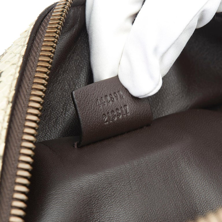 2019 Gucci Natural Animalier Python Leather & Web Backpack For Sale 4
