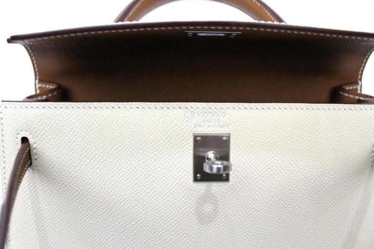 2019 Hermès Beige Leather Kelly 25 Bag For Sale 1