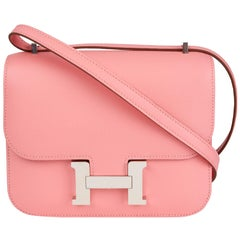 2019 Hermès Rose Confetti Epsom Leather Constance 18