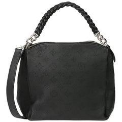 2019 Louis Vuitton Black Perforated Mahina Calfskin Leather Babylon BB