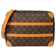 2019 Louis Vuitton Brown Monogram Canvas & Leather Soft Trunk Messenger MM