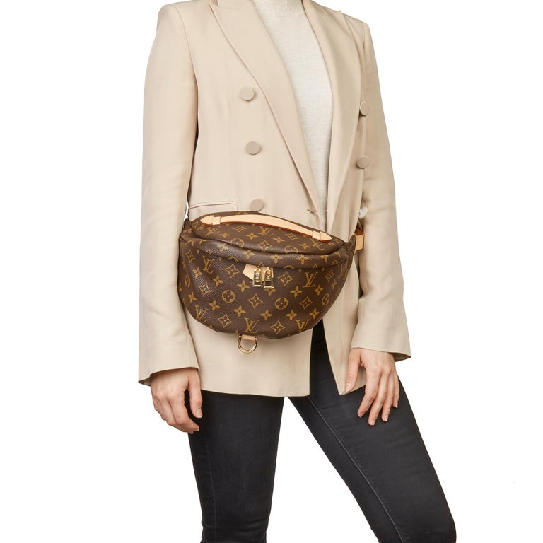 LOUIS VUITTON Brown Monogram Coated Canvas Bum Bag  Xupes Reference: HB3384 Serial Number: SA3159 Age (Circa): 2019 Accompanied By: Louis Vuitton Dust Bag, Care Booklet, Receipt Authenticity Details: Date Stamp (Made in France)  Gender: Unisex Type:
