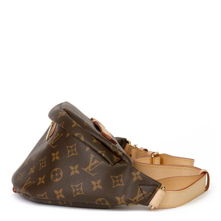 Women's 2019 Louis Vuitton Brown Monogram Coated Canvas Bum Bag For Sale