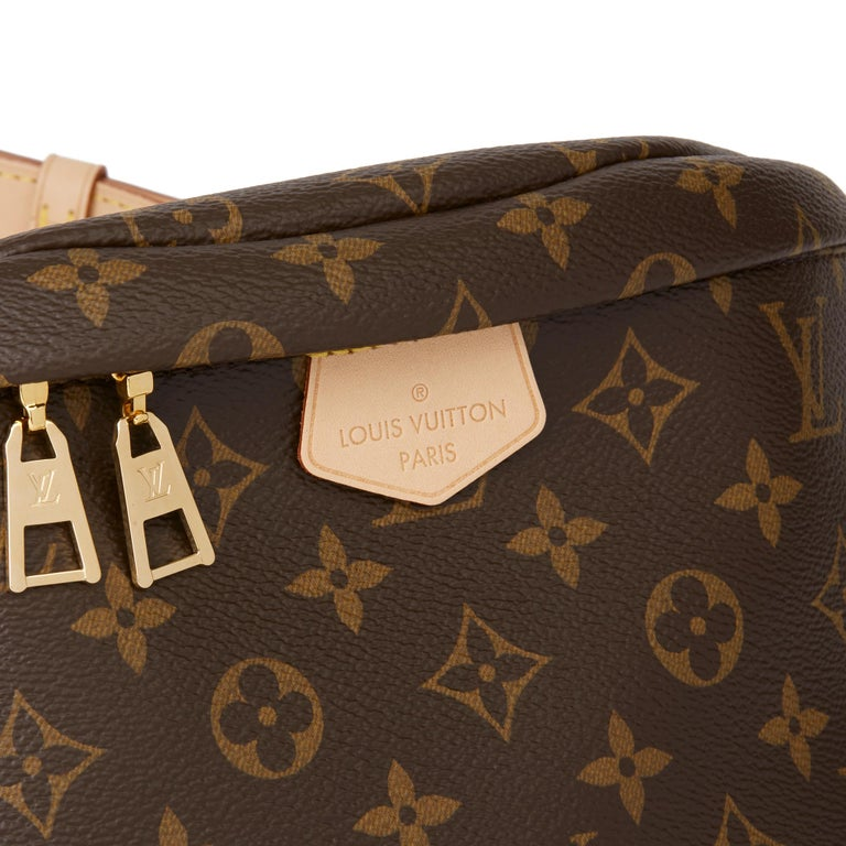 2019 Louis Vuitton Brown Monogram Coated Canvas Bum Bag For Sale 3