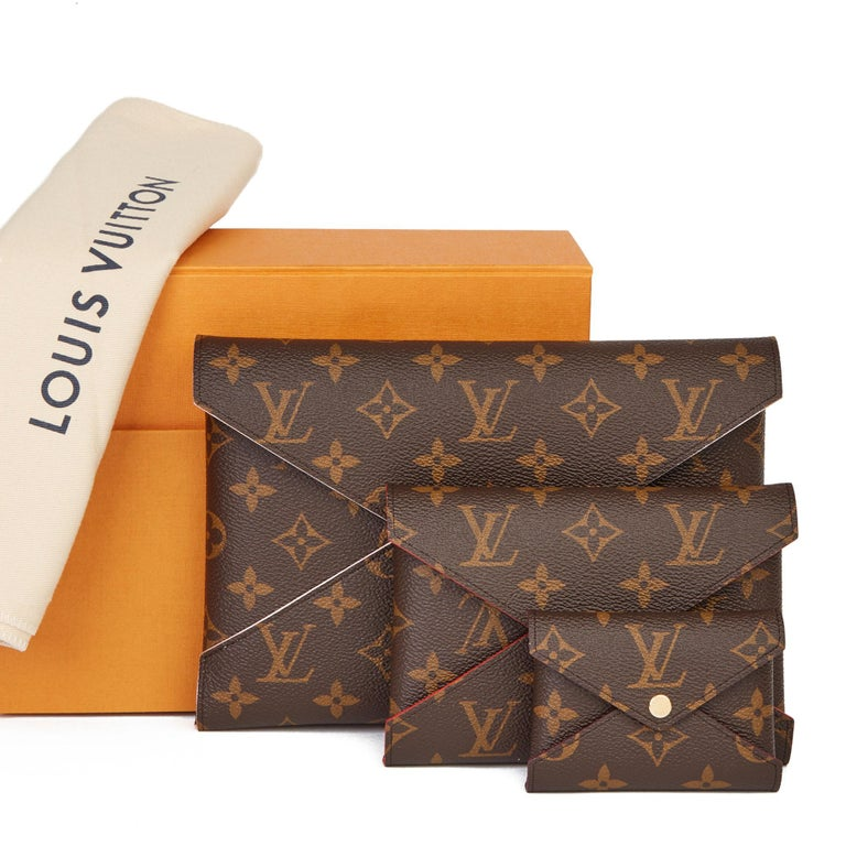 2019 Louis Vuitton Brown Monogram Coated Canvas Kirigami Set For Sale 9