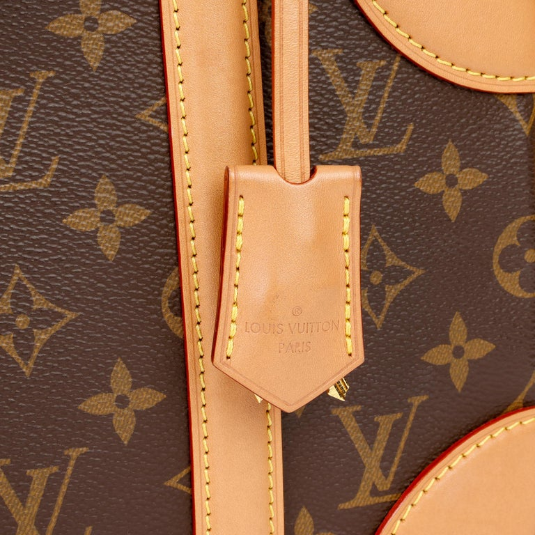 2019 Louis Vuitton Brown Monogram Coated Canvas & Vachetta Leather Valisette PM For Sale 6