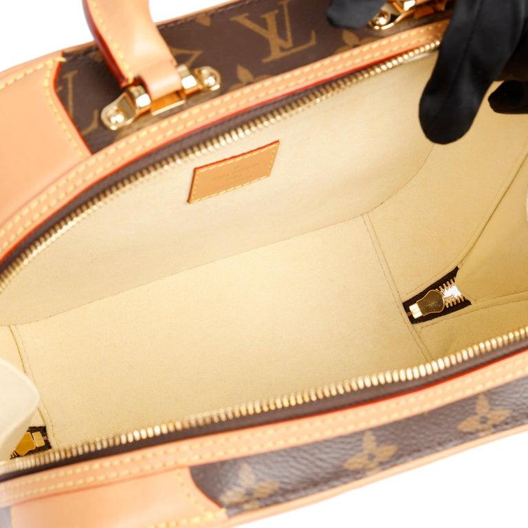 2019 Louis Vuitton Brown Monogram Coated Canvas & Vachetta Leather Valisette PM For Sale 9
