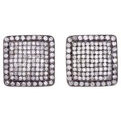 2.02 Carat Diamond Square Cufflinks
