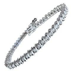 2.02 Carat Natural Diamonds Tennis Bracelet 14 Karat
