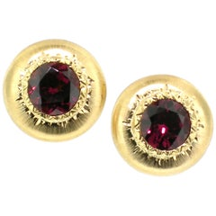 2.02ct Rhodolite Garnet and 18kt Earrings Made in Italy by Cynthia Scott Jewelry