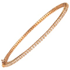 2.02 Carat Round Brilliant Diamond Bengal 18 Karat Rose Gold