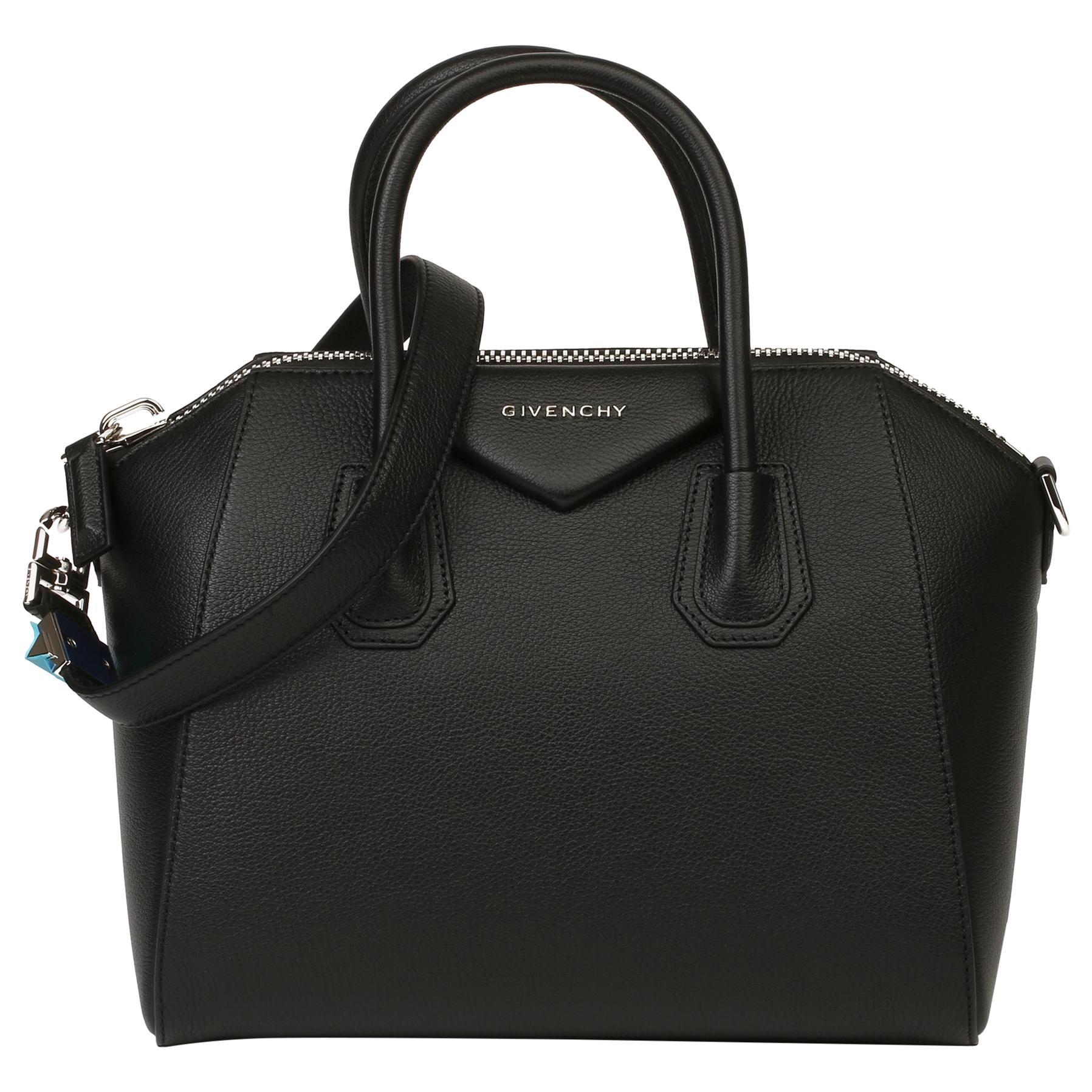 2020 Givenchy Black Goatskin Leather Small Antigona