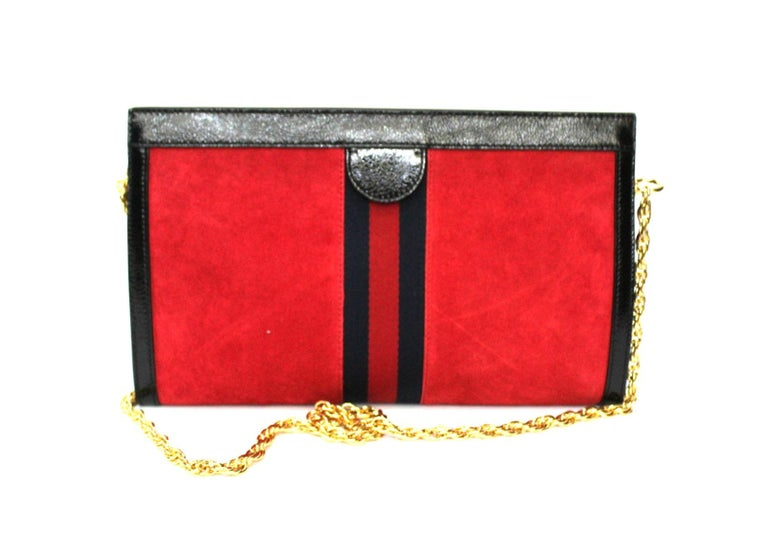 2020 Gucci Ophidia Red Suede Bag In New Condition For Sale In Torre Del Greco, IT