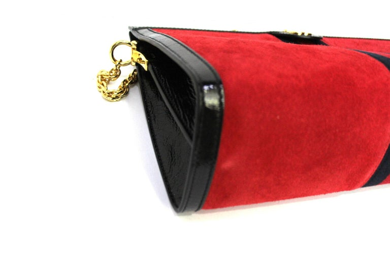 Women's 2020 Gucci Ophidia Red Suede Bag For Sale