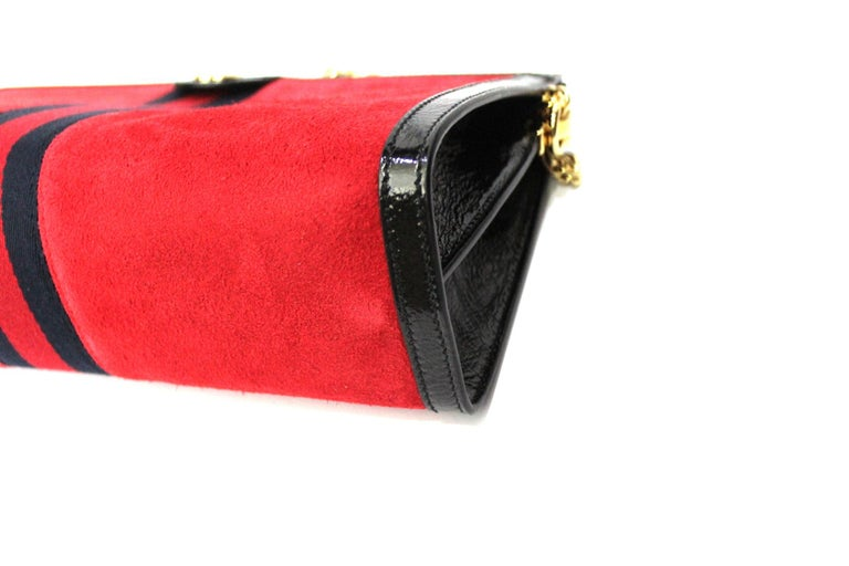 2020 Gucci Ophidia Red Suede Bag For Sale 1