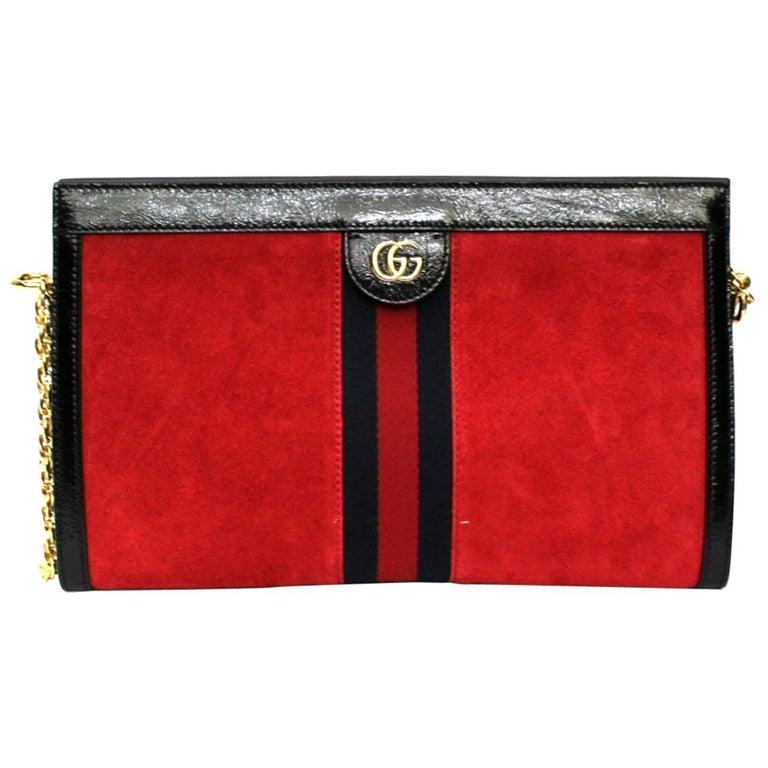 2020 Gucci Ophidia Red Suede Bag For Sale