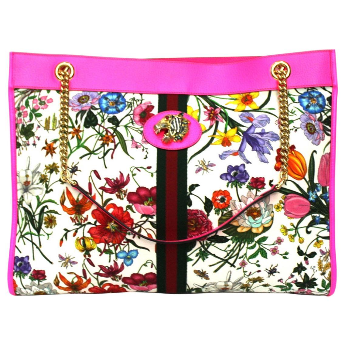 2020 Gucci Pink Leather Rajah Bag