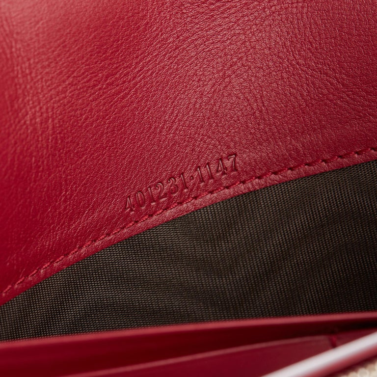 2020 Gucci Red GG Velvet & Calfskin Leather Dionysus Wallet-on-Chain For Sale 6