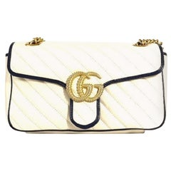 2020 Gucci White Leather Marmont Bag