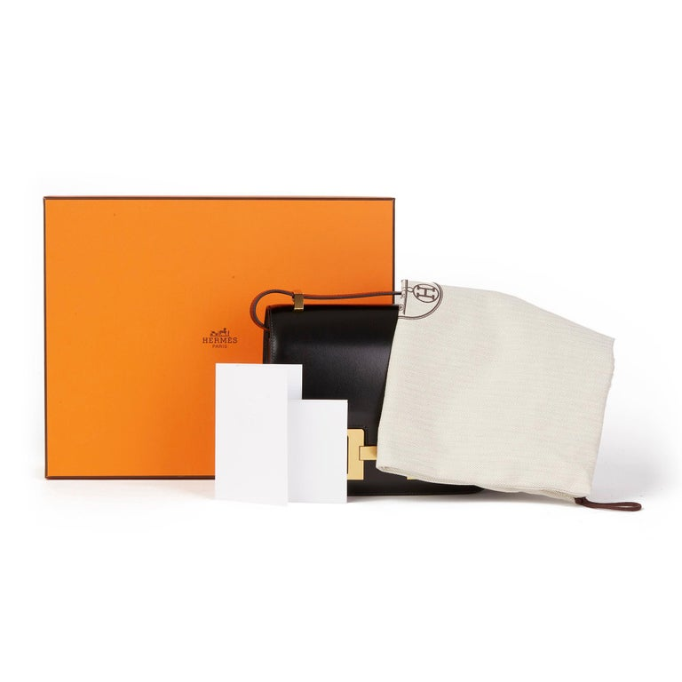 2020 Hermès Black Box Calf Leather Constance 23 7