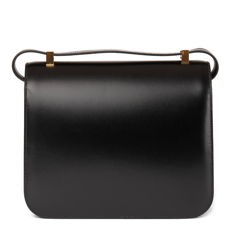 2020 Hermès Black Box Calf Leather Constance 23 1