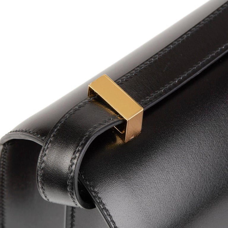 2020 Hermès Black Box Calf Leather Constance 23 2
