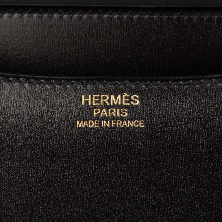2020 Hermès Black Box Calf Leather Constance 23 4