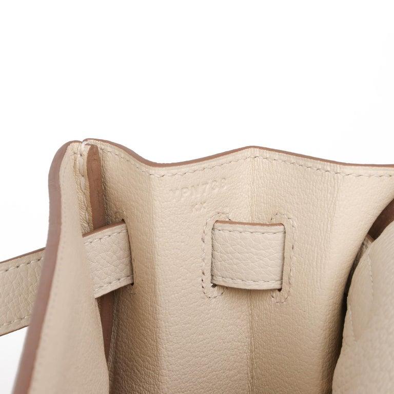 2020 Hermes  Craie Togo Leather Kelly 32cm Retourne For Sale 4