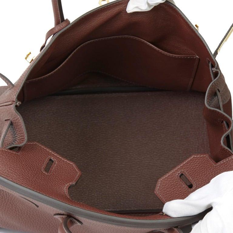 2020  Hermès Havane Clemence Leather Birkin 30cm For Sale 5
