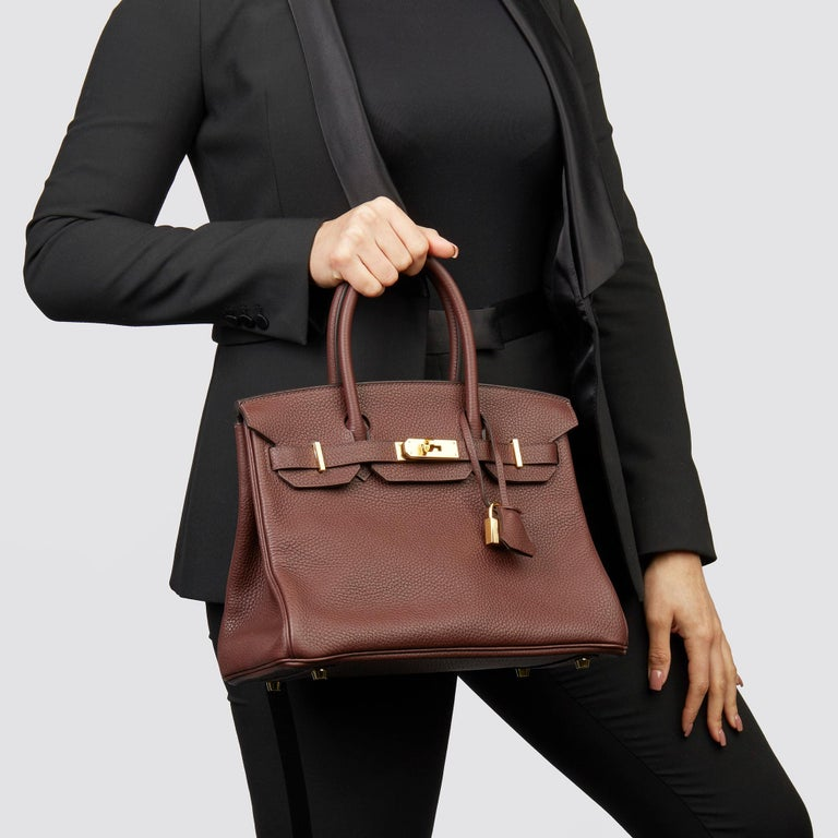 Hermès Havane Clemence Leather Birkin 30cm  Xupes Reference: CB232 Serial Number: Y Age (Circa): 2020 Accompanied By: Hermès Dust Bag, Box, Lock, Keys, Clochette, Rain Cover, Care Booklet, Protective Felt Authenticity Details: Date Stamp (Made in