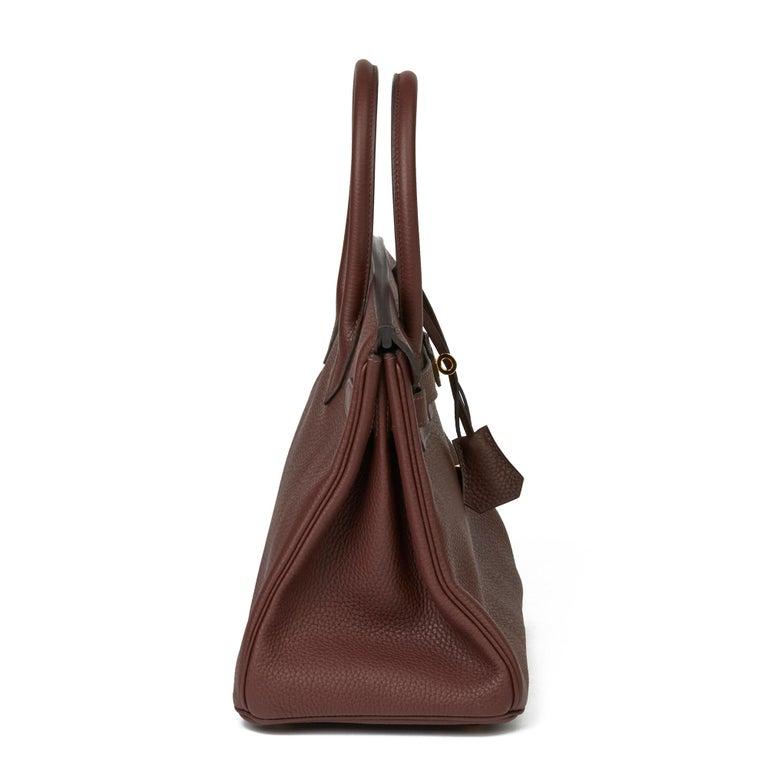 2020  Hermès Havane Clemence Leather Birkin 30cm In Excellent Condition For Sale In Bishop's Stortford, Hertfordshire