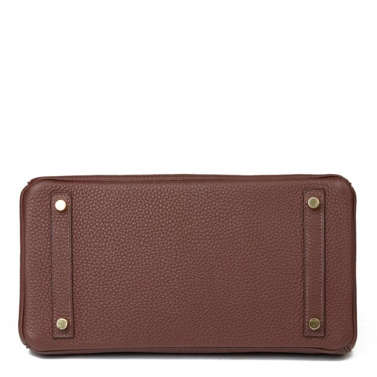 2020  Hermès Havane Clemence Leather Birkin 30cm For Sale 1