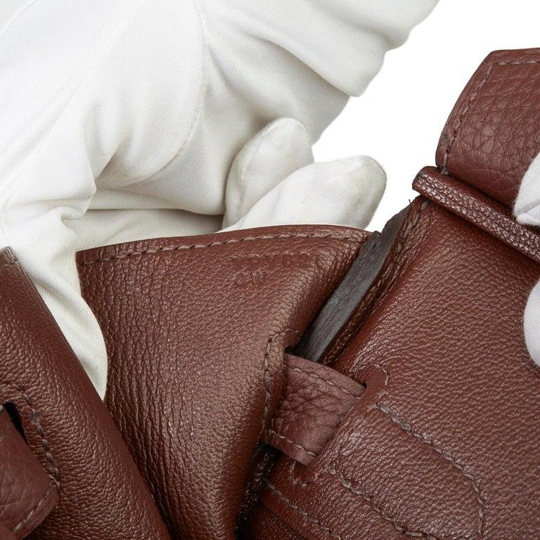 2020  Hermès Havane Clemence Leather Birkin 30cm For Sale 4