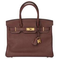 2020  Hermès Havane Clemence Leather Birkin 30cm