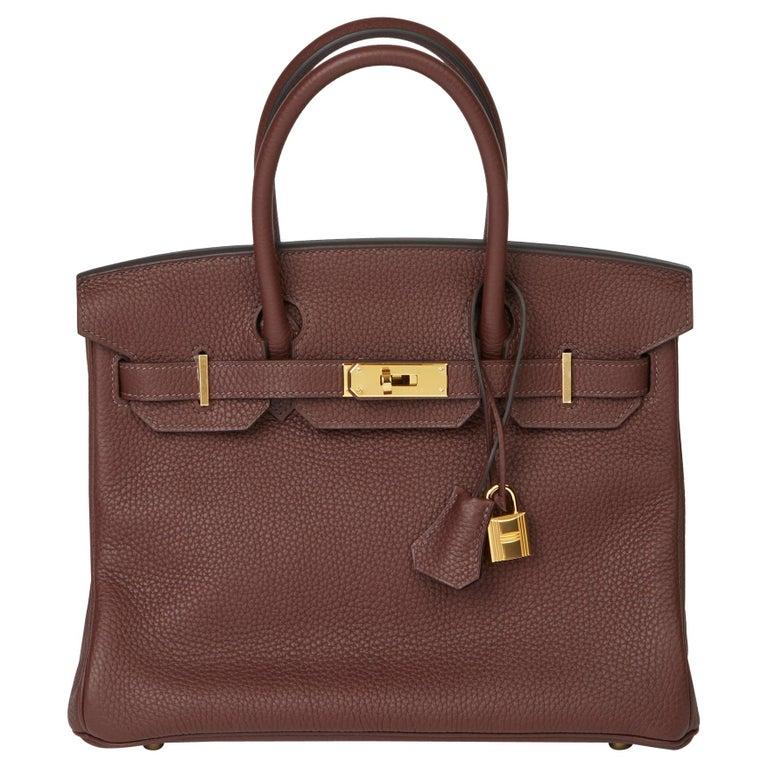 2020  Hermès Havane Clemence Leather Birkin 30cm For Sale