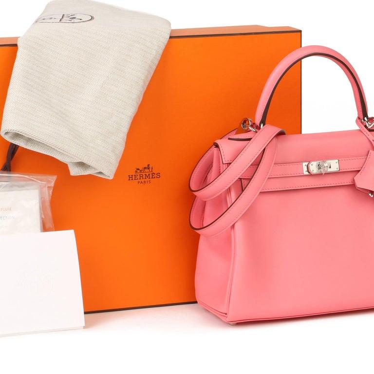 2020  Hermès Rose Ete Swift Leather Kelly 25cm  For Sale 6