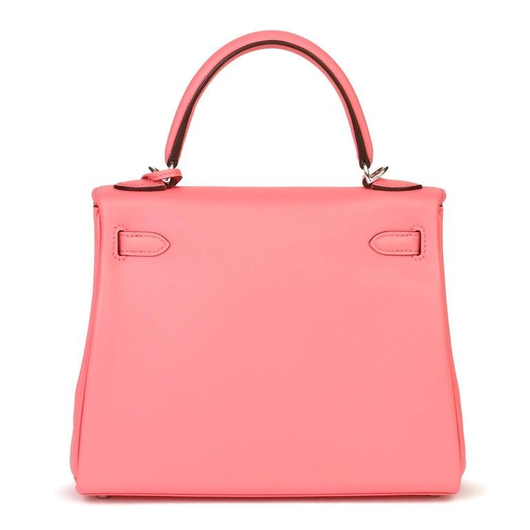 Women's 2020  Hermès Rose Ete Swift Leather Kelly 25cm  For Sale
