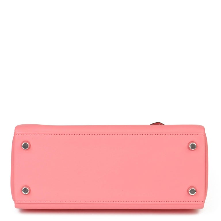 2020  Hermès Rose Ete Swift Leather Kelly 25cm  For Sale 1