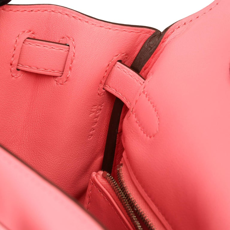 2020  Hermès Rose Ete Swift Leather Kelly 25cm  For Sale 4