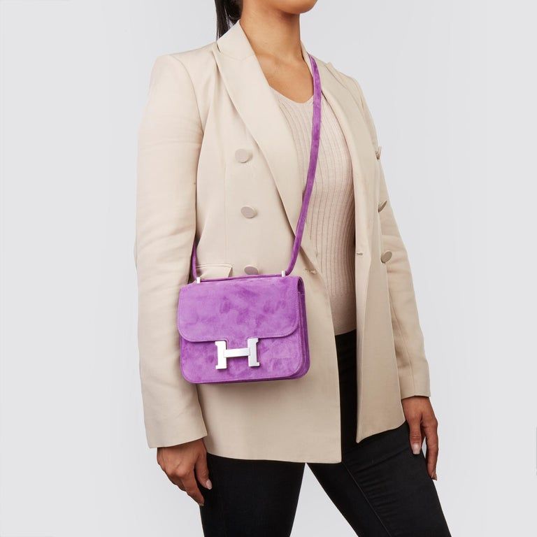 HERMÈS Violet Clair Doblis Hermes Constance 18  Xupes Reference: CB205 Serial Number: Y Age (Circa): 2020 Accompanied By: Hermès Dust Bag, Box, Care Booklet, Protective Felt, Receipt, Rain Cover  Authenticity Details: Date Stamp (Made in France)