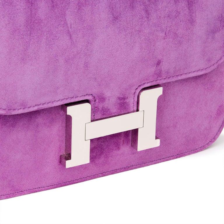 2020 Hermès Violet Clair Doblis Hermes Constance 18 2