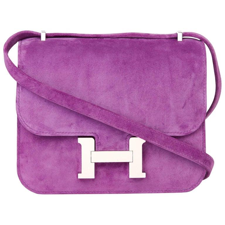 2020 Hermès Violet Clair Doblis Hermes Constance 18