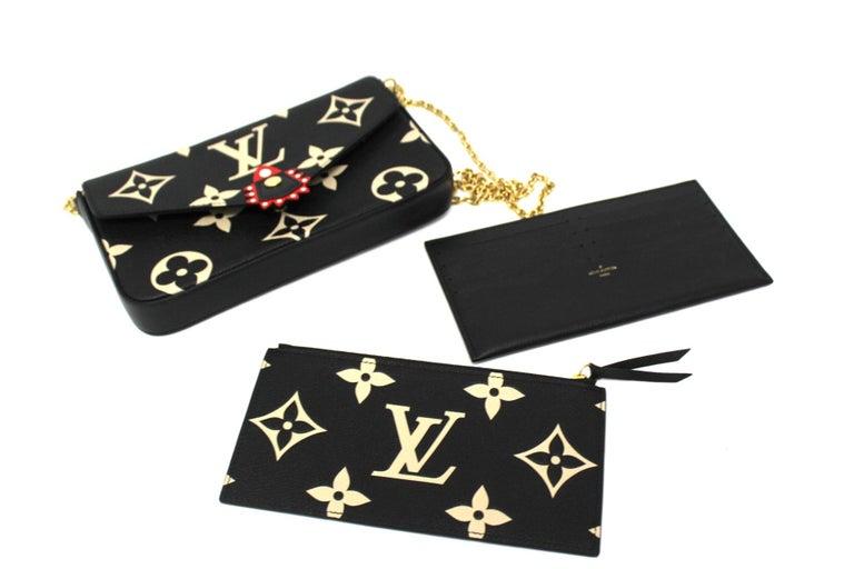 2020 Louis Vuitton Black Leather Fèlicie Pochette For Sale 3