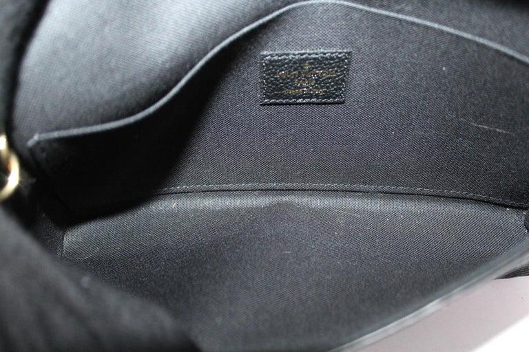 2020 Louis Vuitton Black Leather Fèlicie Pochette For Sale 4