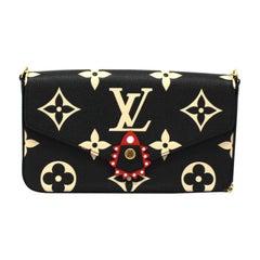 2020 Louis Vuitton Black Leather Fèlicie Pochette