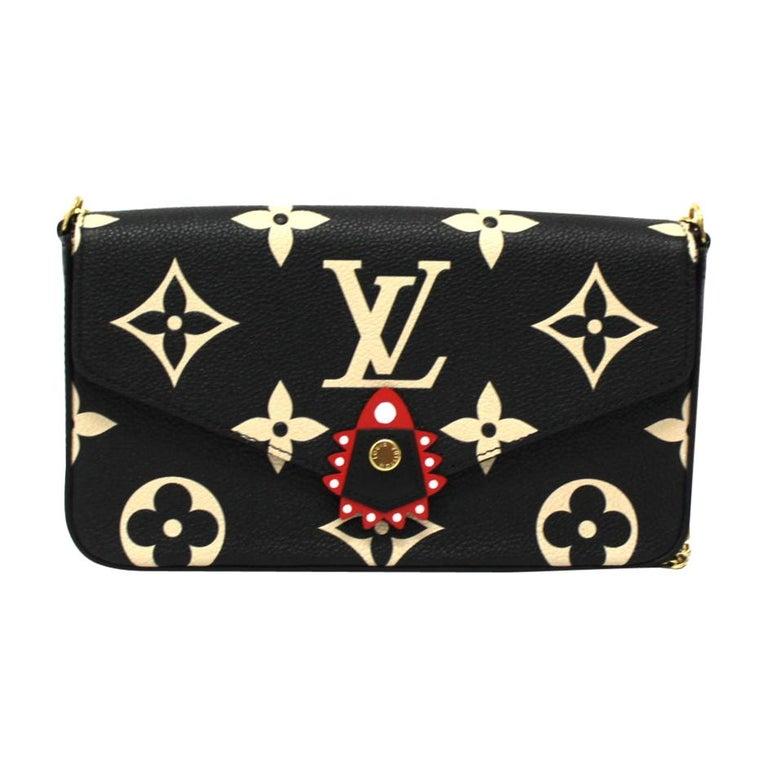 2020 Louis Vuitton Black Leather Fèlicie Pochette For Sale
