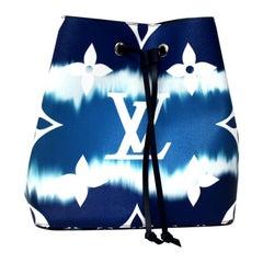 2020 Louis Vuitton Blue Leather Noè Bag
