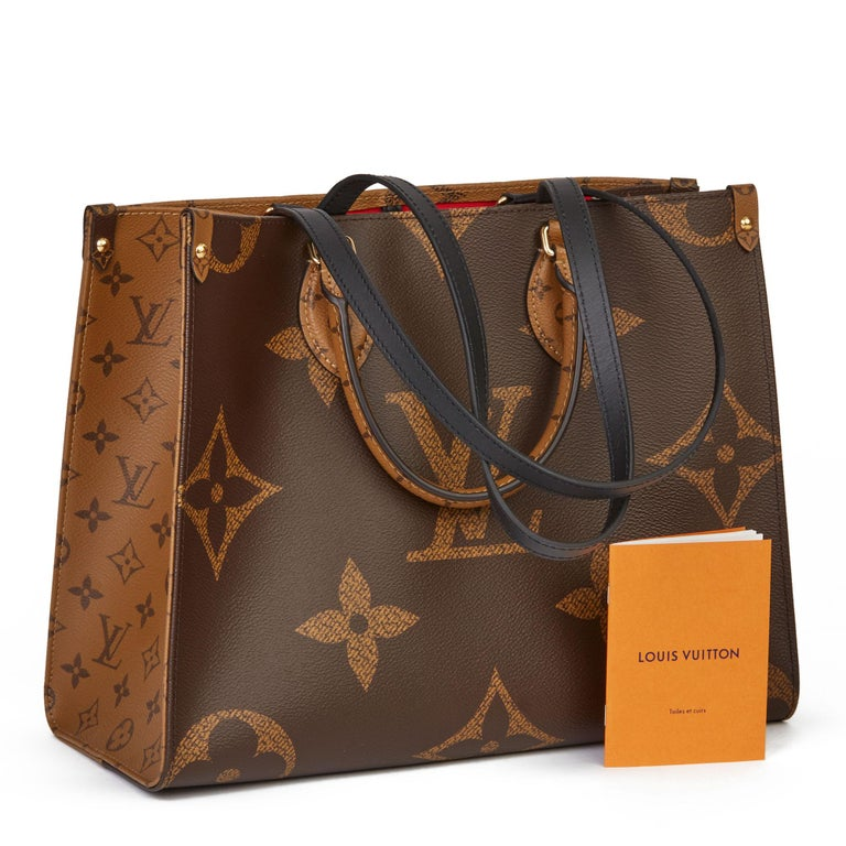 2020 Louis Vuitton Brown Monogram Coated Canvas Reverso Onthego MM For Sale 8