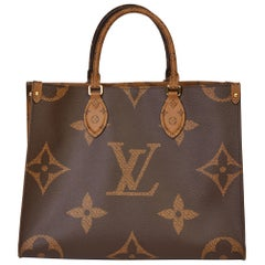 2020 Louis Vuitton Brown Monogram Coated Canvas Reverso Onthego MM